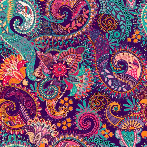 Fotografie, Obraz Paisley seamless pattern