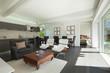 Modern living room furnished