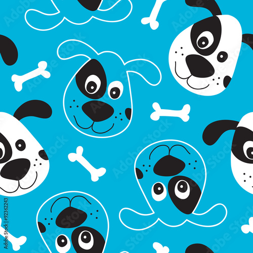 plakat seamless dog pattern vector illustration