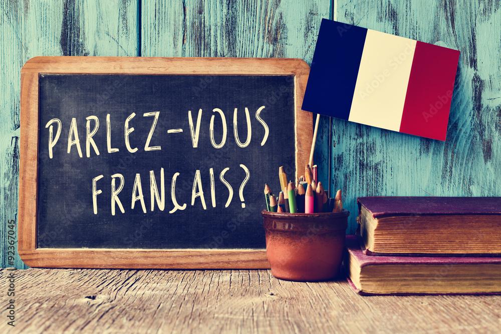 Fototapety, obrazy: question parlez-vous francais? do you speak french?