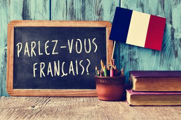 Naklejka question parlez-vous francais? do you speak french?