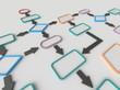 canvas print picture - Flow Chart Diagram Concept