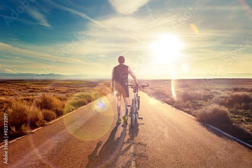 Obraz na plátně Bicicleta y Aventuras, estilo de vida