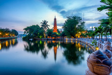 The Tran Quoc Pagoda In Hanoi ...