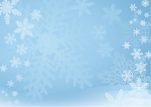 Blue Snowflake Background — ...