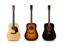 Realistic Acoustic Guitars. Ve...