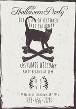 Halloween Party Invitation Wit...