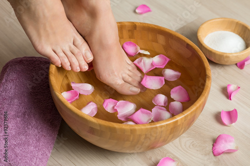 Pedicure at spa center Poster