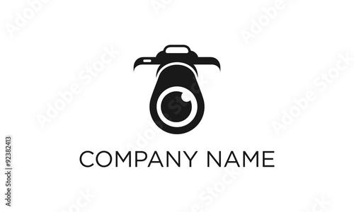 camera photography logo design template