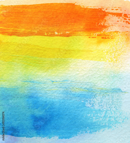 Abstract acrylic and watercolor brush strokes painted background Wallpaper Mural