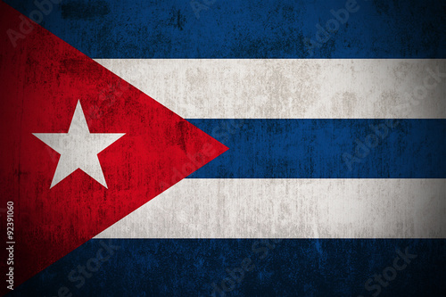 Fotografie, Tablou Grunge Flag Of Cuba