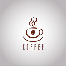 Coffee Vector Logo Template With Stylized Cup