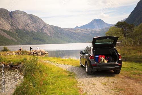 Family vacation on Myrdal lake (Myrdalsvatnet), Folgefonna Natio