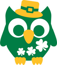 Green St. Patricks Day Owl