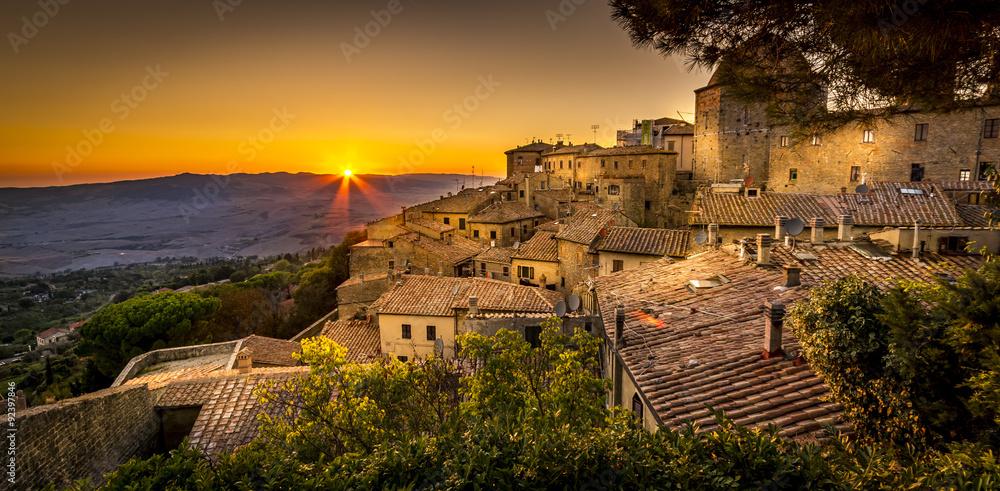 Fototapeta Volterra Sunset