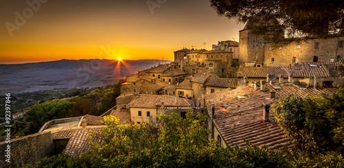 Printed kitchen splashbacks Tuscany Volterra Sunset