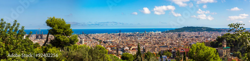Poster Algérie Panoramic view of Barcelona