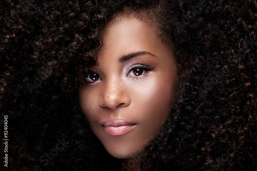 Fototapety, obrazy: Beauty portrait of young african american girl.