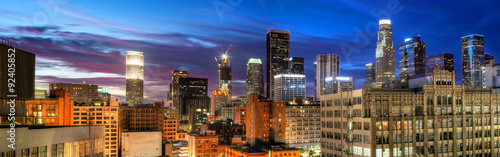 Historic Core and Financial District of Downtown Los Angeles Canvas Print