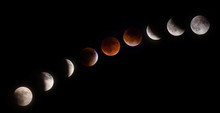 Phases Of Supermoon Lunar Eclipse On September 27 2015