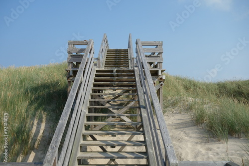 Spoed Foto op Canvas Noordzee Sylter Strandtreppe