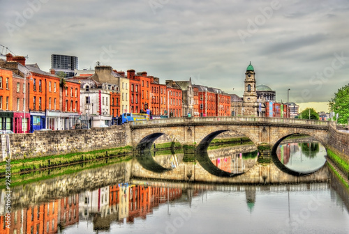 View of Mellows Bridge in Dublin - Ireland Canvas Print
