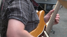 Guitarist Playing With A Band
