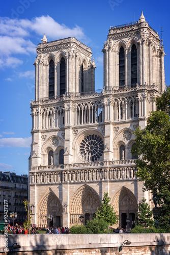 Photo  Facade of Notre Dame de Paris, France