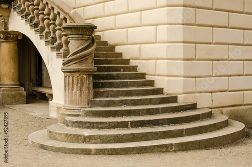 Staircase of a castle in Prague
