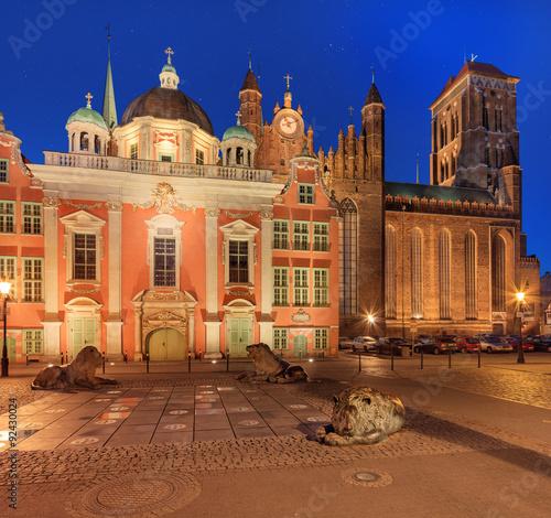 Plakat Stary Gdańsk nocą