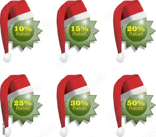 Weihnachtsrabatt Sterne grün