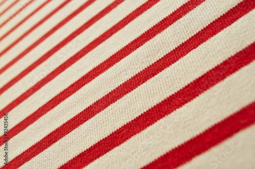 Photo texture tissu marinière lignes rouges