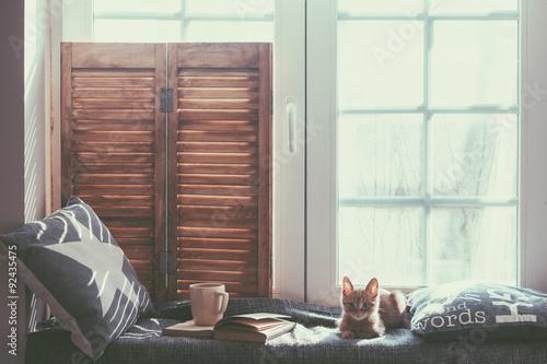 Deurstickers Ontspanning Window seat