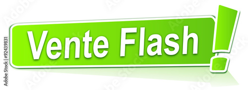 Obraz vente flash sur étiquette verte - fototapety do salonu