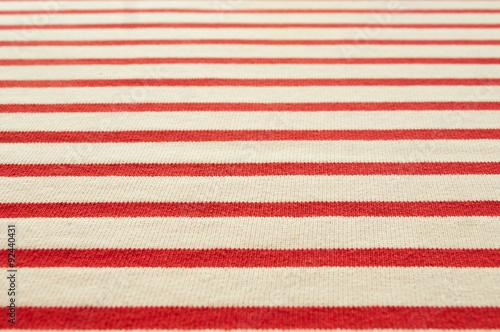 texture tissu marinière lignes rouges Canvas Print
