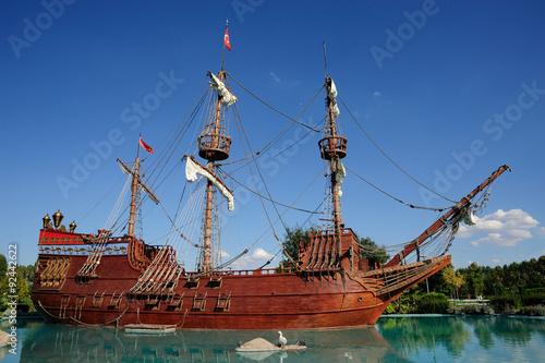 Keuken foto achterwand Schip Prate Ship in Sazova Park Eskisehir, Turkey