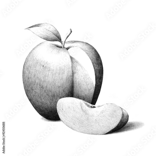 Apple Fruit Images Black And White