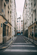 street in the old city Paris selective focus