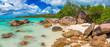 Anse Lazio - Paradise beach in Seychelles, tropical island Praslin