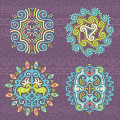 Christmas ethnic symbols. Vector illustration
