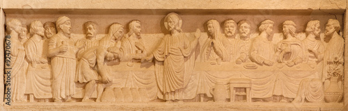 Stampa su Tela Jerusalem - Marriage at Cana relief in Lutheran Church of Ascension