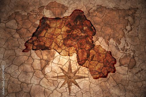Fotografie, Obraz  vintage Kurdistan map