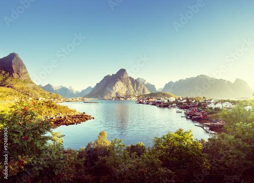 Poster Scandinavie Reine Village, Lofoten Islands, Norway