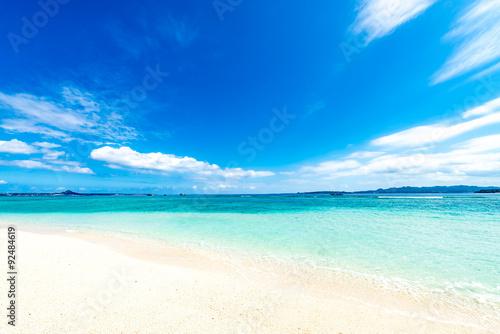 Sea, beach, landscape. Okinawa, Japan, Asia.