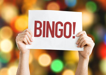 Bingo! Placard With Bokeh Background