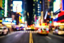 Blurred Street Llumination And...