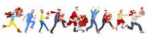 Happy Running Christmas People.