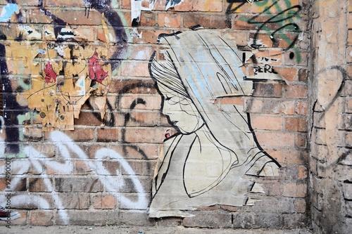 Street-Art in der Innenstadt von Berlin Poster