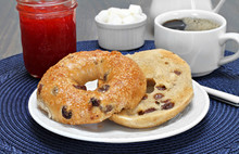 Cinnamon Raisin Bagel, Buttered