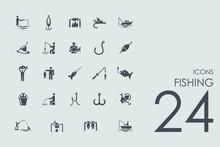 Set Of Fishing Icons